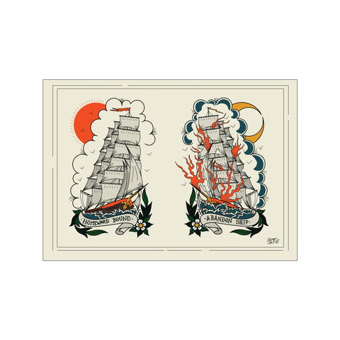 Homeward Print - abandon-ship-art