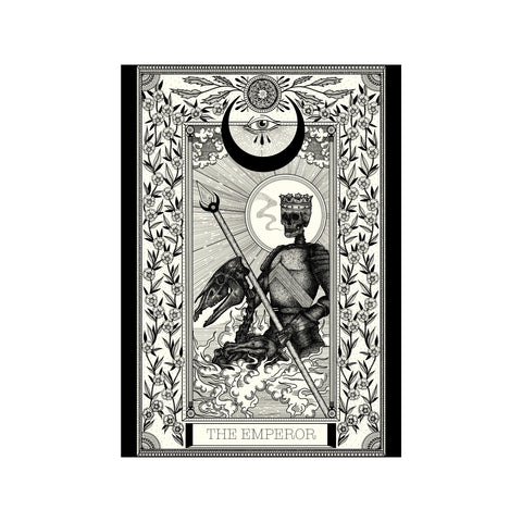 The Emperor Tarot Premium Large Print - abandon-ship-art