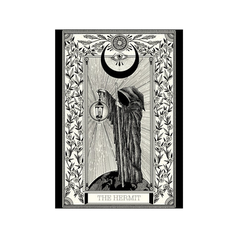 The Hermit Tarot Premium Large Print - abandon-ship-art