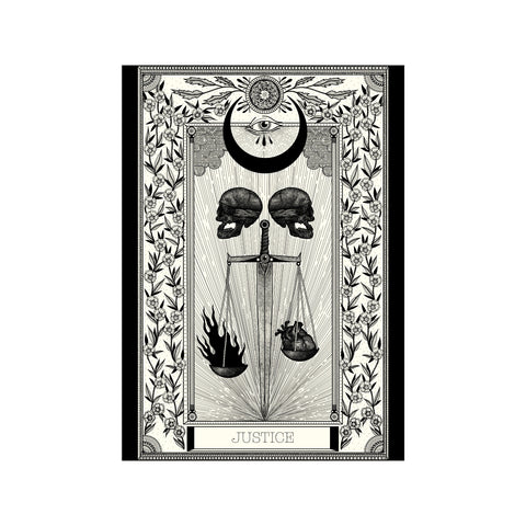Justice Tarot Premium Large Print - abandon-ship-art