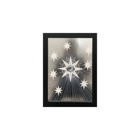 Star Eye Print Metallic Silver Limited Edition - abandon-ship-art