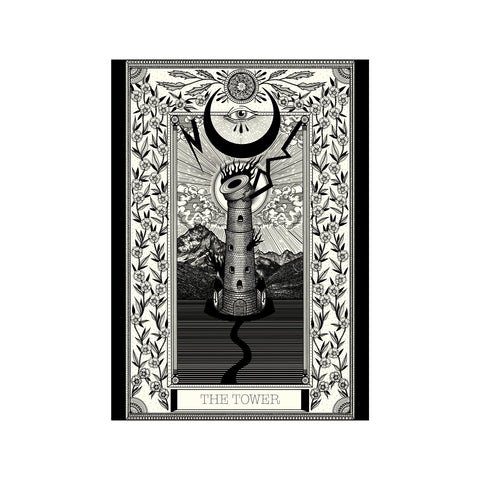 The Tower Tarot Premium Large Print - abandon-ship-art