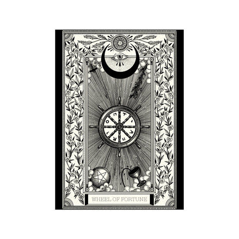 Wheel of Fortune Tarot Premium Large Print - abandon-ship-art