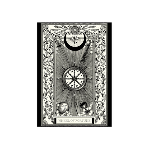 Wheel Tarot Premium Print A3 - abandon-ship-art