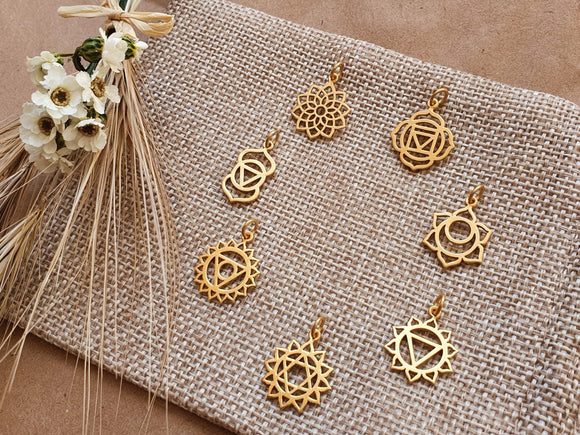 7 Chakras Gold Necklaces