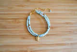 Amazonite and Pyrite Bracelet