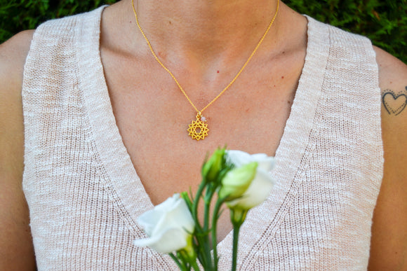 Heart Chakra Gold Necklace