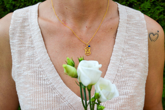 Frontal Chakra Gold Necklace