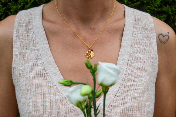Root Chakra Gold Necklace