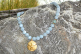 Aquamarine and Amazonite Gemstone Choker