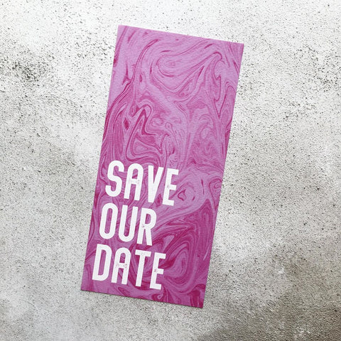 Marble Swirl Bookmark Save Our Date