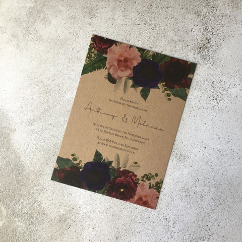 Vintage Floral Invitation FREE SAMPLE