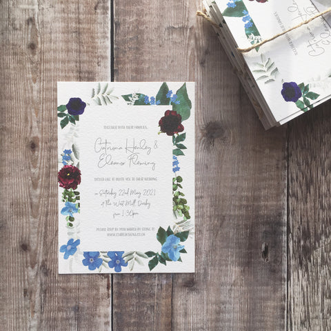 Rustic Floral Invitation FREE SAMPLE