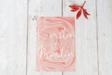 Peach Marble Invitation