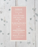 Border Bookmark Invitation FREE SAMPLE