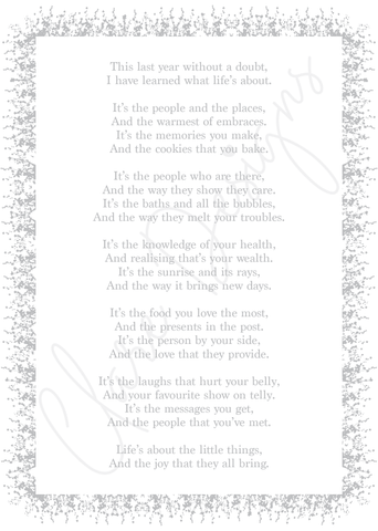 'What Life's About' Poem, DOWNLOADABLE VERSION