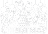 A4 Christmas Colouring In Sheet - FREE DOWNLOADABLE