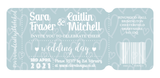 Dusky Blue Ticket-Style Wedding Invitation / Travel Themed Wedding / Festival Themed Wedding / Film Themed Wedding