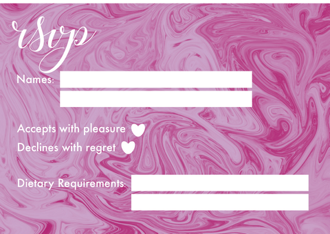 Pink Marble RSVP