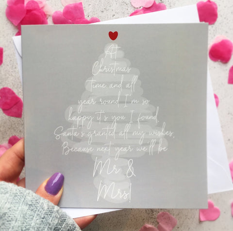 BACK IN STOCK! Last Christmas as Mr & Miss Card