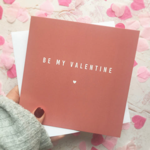 LIMITED EDITION: Be My Valentine Card in Blush