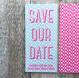 Bold Pattern Bookmark Save Our Date FREE SAMPLE