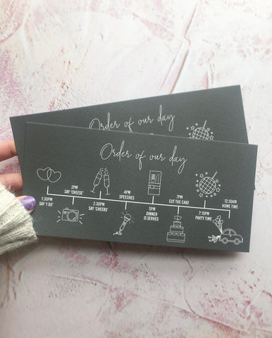 Order of the Day Timeline Postcards FREE SAMPLE