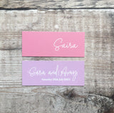 Blush & Lavender Mini Place Names
