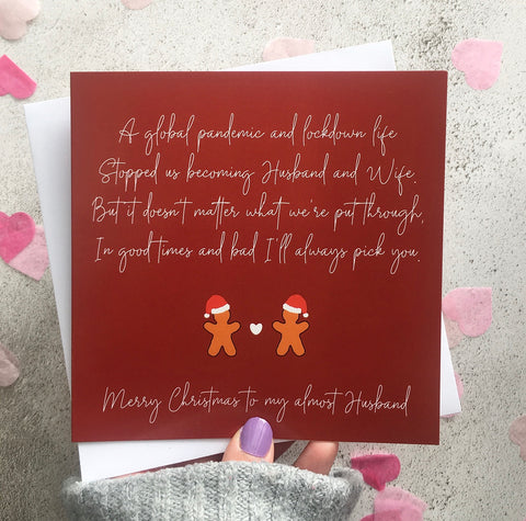 To My Almost Husband/Wife Christmas Card *PRE-ORDER*
