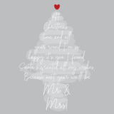 LIMITED EDITION: Last Christmas as Mr & Miss Card
