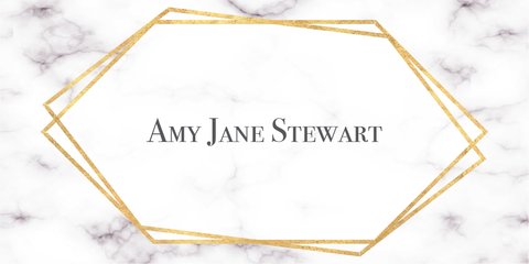 Geometric Frame Marble Place Name