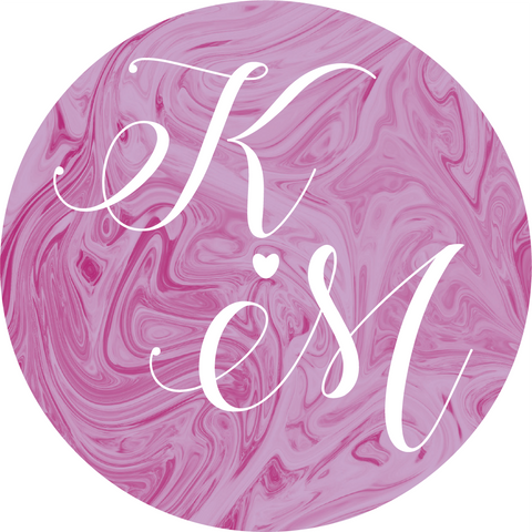 Marble Swirl Calligraphy Sticker