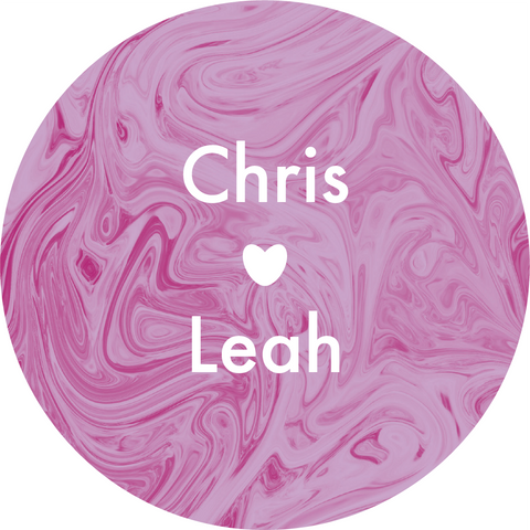 Marble Swirl with Heart Sticker