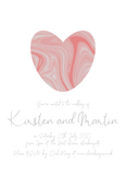 Peach Marble Wedding Invitation / Wedding Stationery