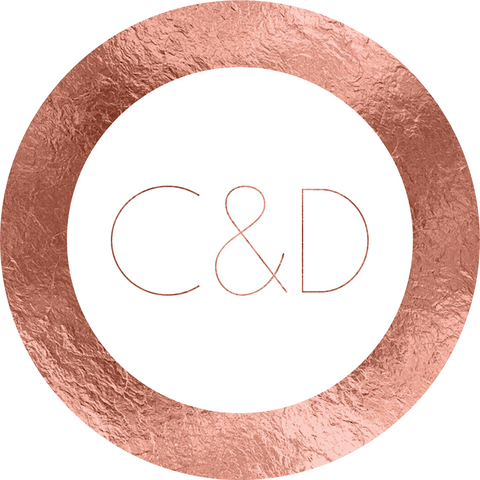 Modern Rose Gold Foil Effect Sticker