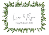 Eucalyptus Frame Save The Date FREE SAMPLE