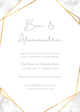 Marble & Geometric Invitation