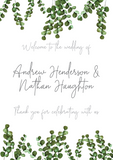 Eucalyptus Welcome Sign