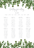 Simple Eucalyptus Table Plan