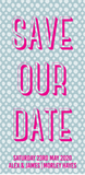 Bold Patterned Save Our Date / Bookmark Invitation / Wedding Stationery
