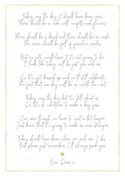 A poem to gift to your future bride or groom on the morning of your 'would be wedding day', when you have had to postpone your day due to Covid-19. It can be personalised with your partner's name at the top, and yours at the bottom. The poem is available to download and print, and is blank on the back.
