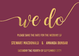 We Do Save The Date in Wine