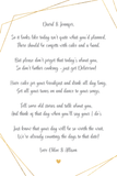 A poem to gift to couples who have postponed their wedding due to Covid-19, which can be personalised with their names at the top, and your name(s) at the bottom. This poem is available as a download to print.