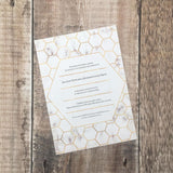 Geometric Honeycomb Pattern with Full Marble Invitation