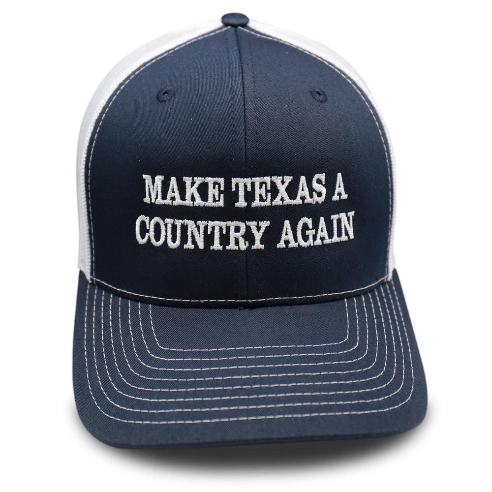 Zavala Blue - Make Texas A Country Again Hat - Classic Trucker