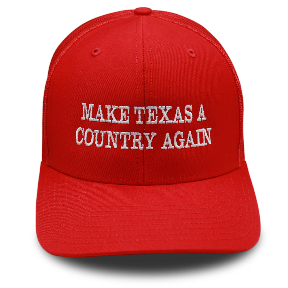 Red - Make Texas A Country Again Hat - Classic Trucker