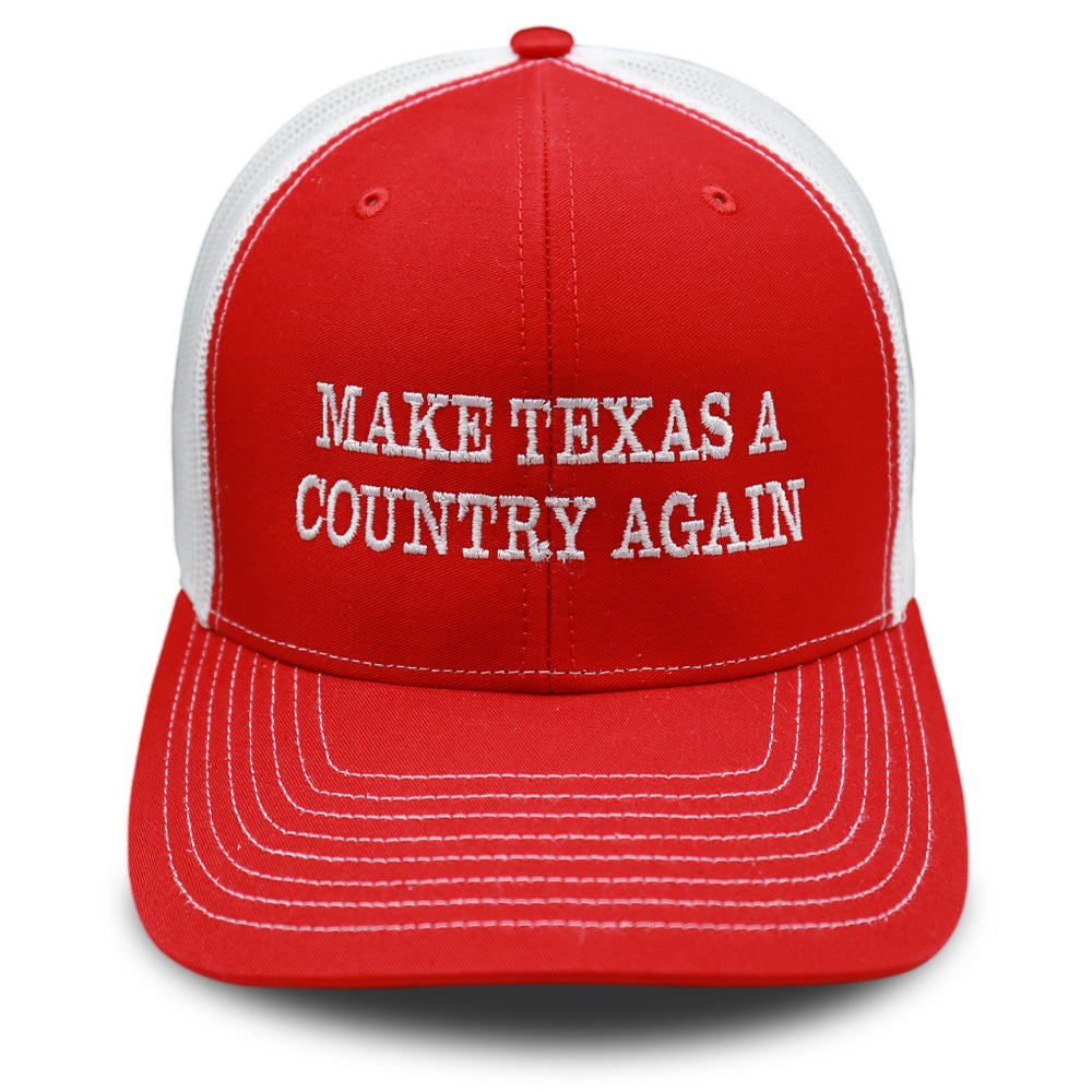 Red & White - Make Texas A Country Again - Classic Trucker