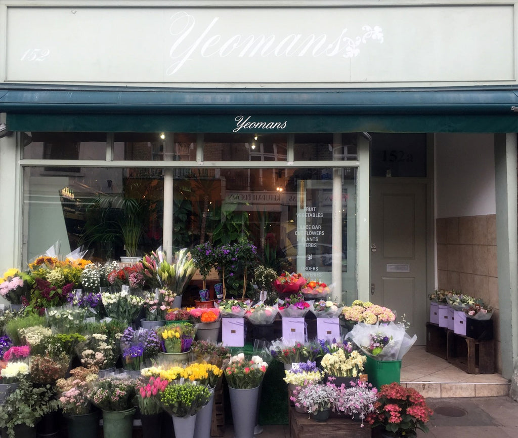 Yeomans Flowers is located on 152 Regent's Park Road, Primrose Hill, London NW1 8XN