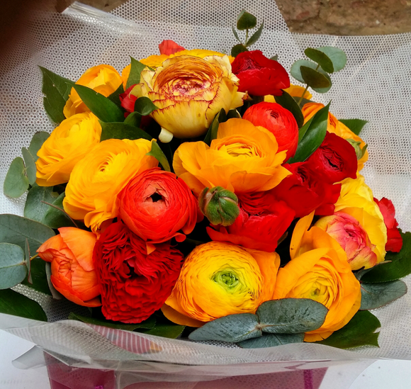 Colorful Ranunculus - HTC403 - Yeomans Flowers in London NW1