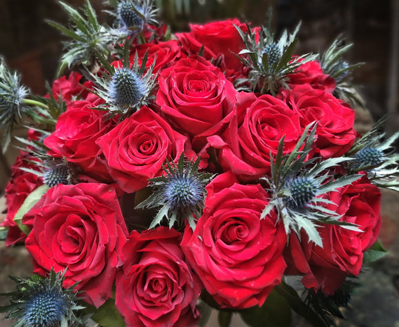 Red Roses Arrangemant - Yeomans Flowers